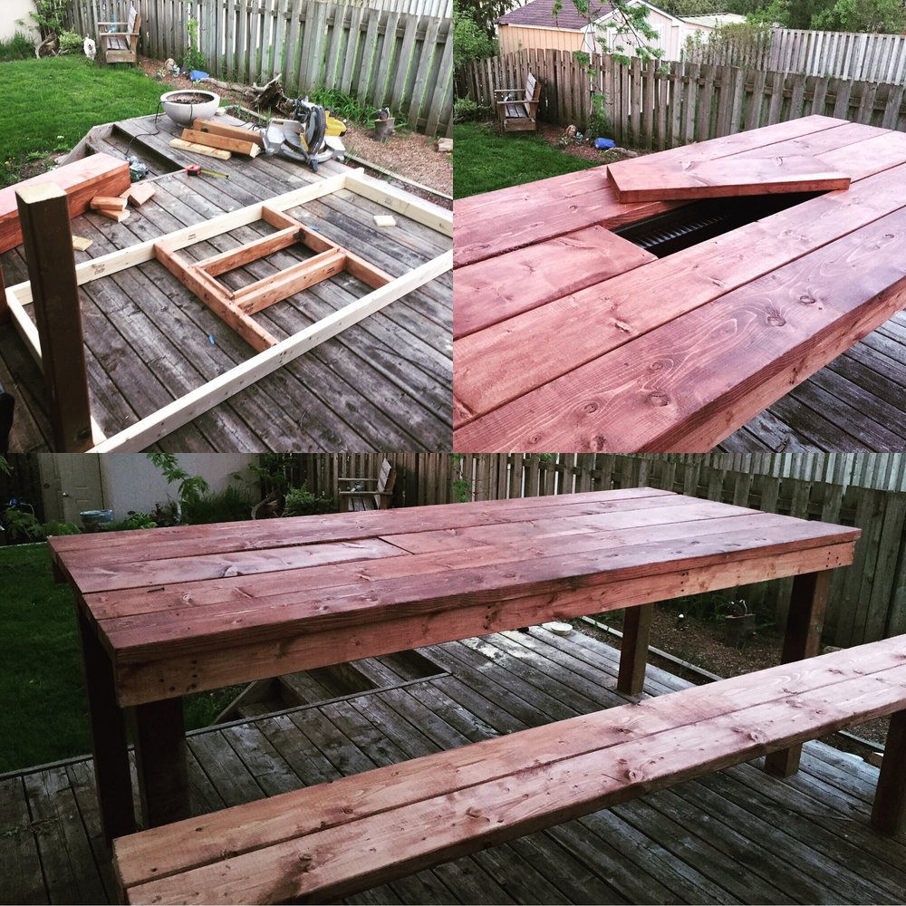 Custome made picnic table