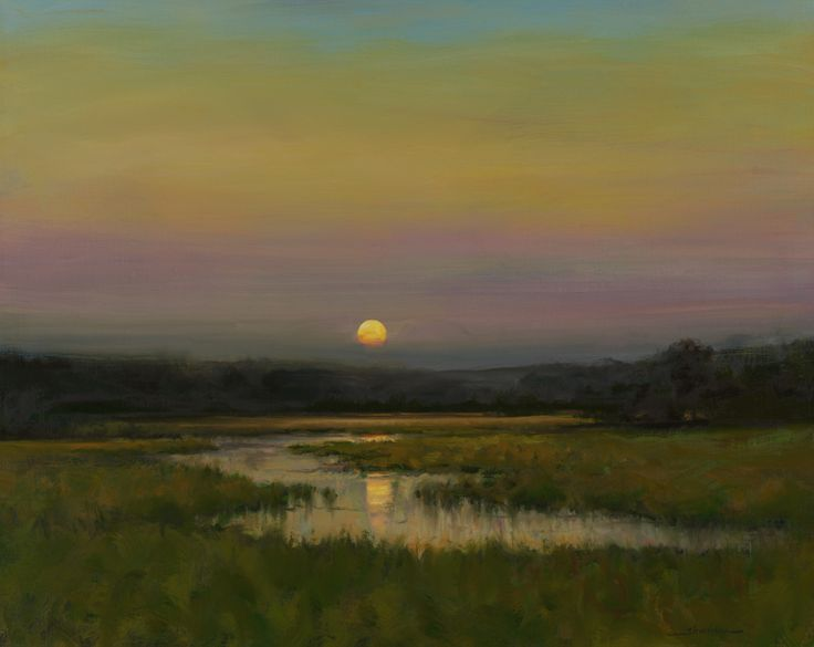 "sbsebek :     Dennis Sheehan    ""Moon Rising On A Summer's Eve"""