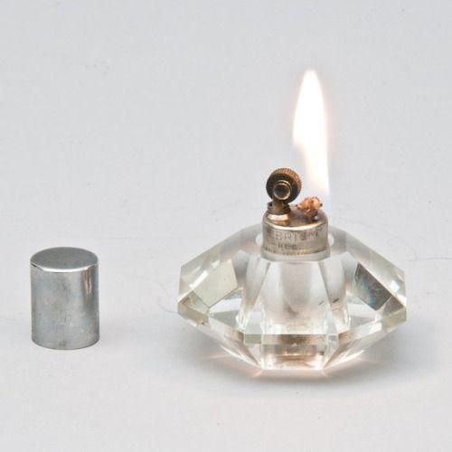 theleoisallinthemind :     Vintage Art Deco 30s Octagonal Crystal Lighter from LuminousWhatnots