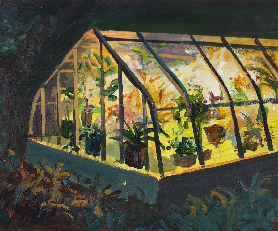 urgetocreate :   Jeremy Miranda, Greenhouse at Night, 2011