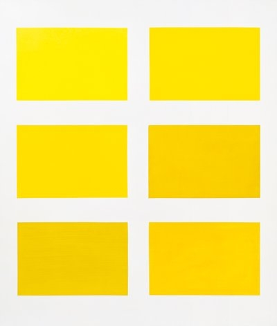 vuls :      Gerhard Richter      Six Yellows      1966  200cm x 170cm  Catalogue Raisonné: 141    Oil on canvas