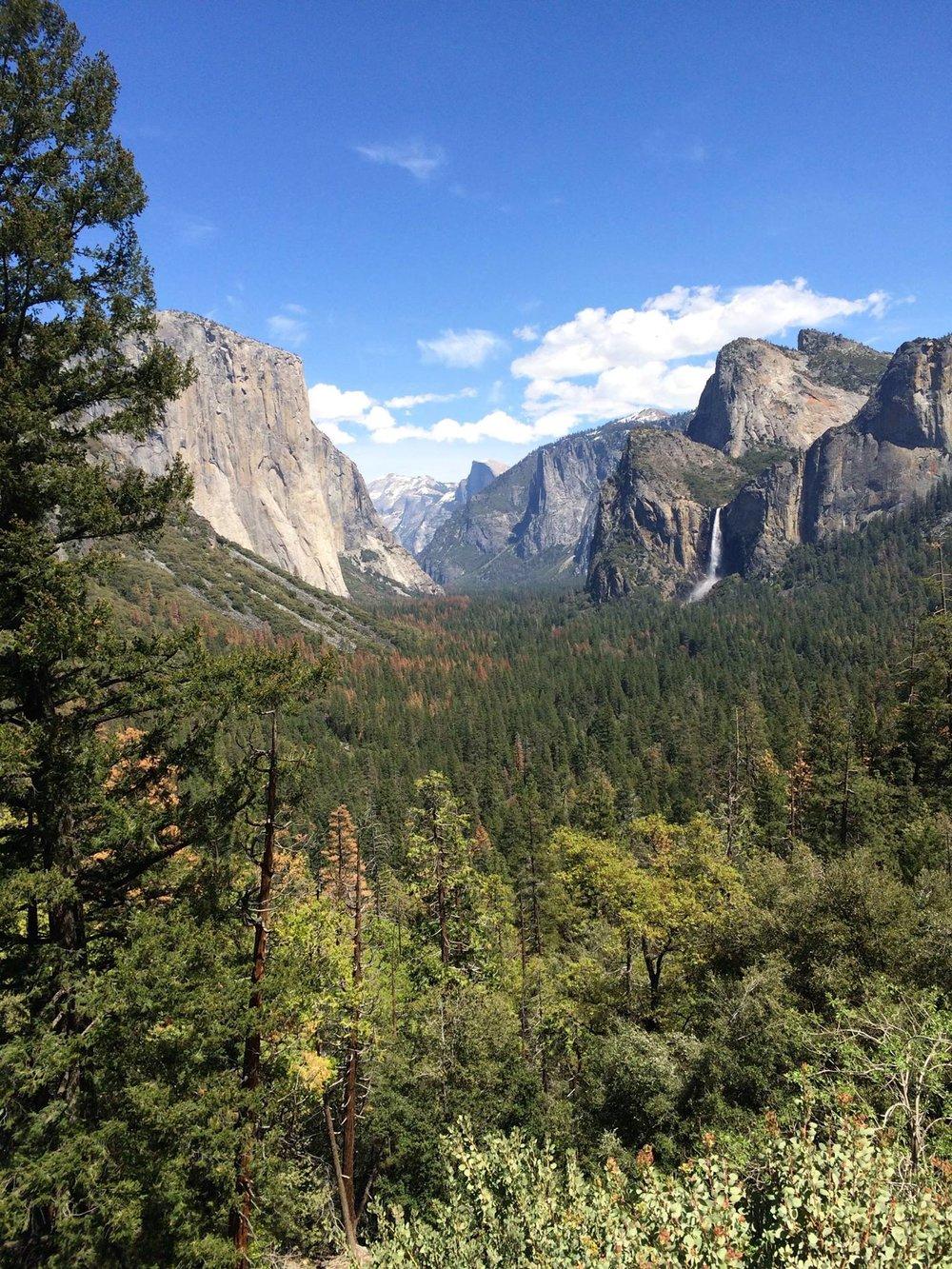 Tunnel View of Yosemite Valley, Bridalveil Falls, El Capitan, Half Dome,   Victoria Nightingale