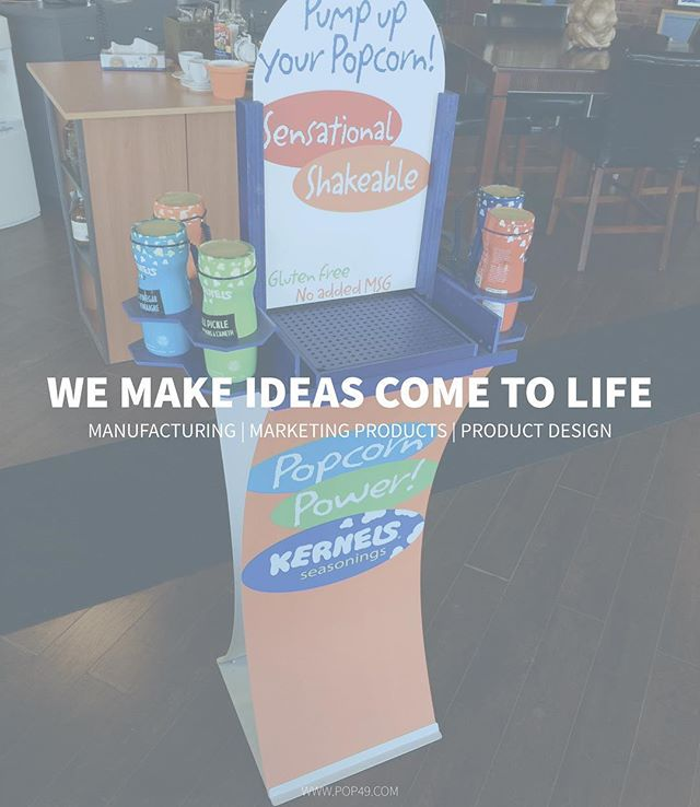 Need an awesome way to display your products? We have a variety of fold-up displays. Easy to use, easy to handle & fast to assemble! Curvy15  #Pop49 #Manufacturing #Marketing #Ideas #Ads #Advertising #FoldUpTable #Tables #ProductDisplay #Experiential #GraphicDesign #Signs #ProductDesign #Toronto #Kernels