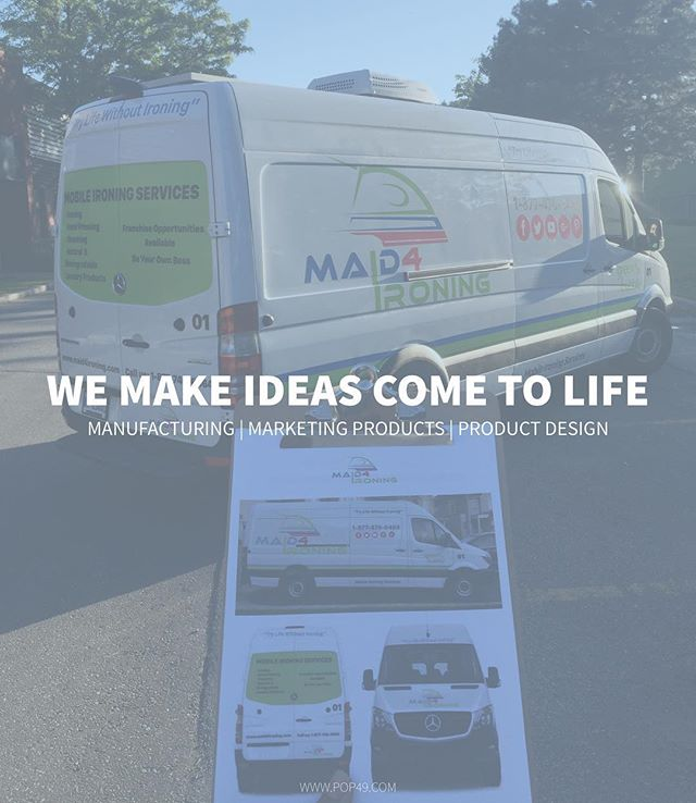 Need a Vehicle Wrap? Call us today! Tel: 416-238-2382 #Pop49 #Manufacturing #Marketing #Ideas #Ads #Advertising #FoldUpTable #Tables #ProductDisplay #Experiential #GraphicDesign #Signs #ProductDesign #Toronto #Longos