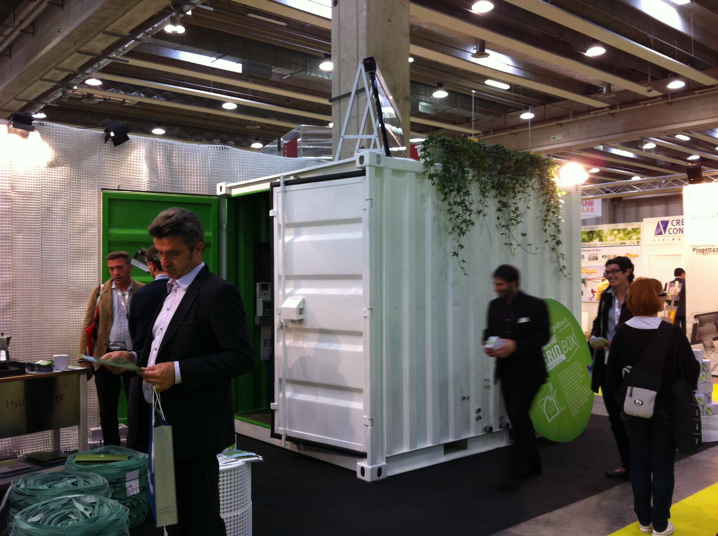 Off-grid Box system at GreenBuild SolarExpo Verona 2011