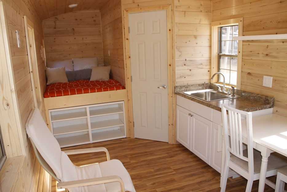 Irish Cedar Caravan Tiny House Cottages