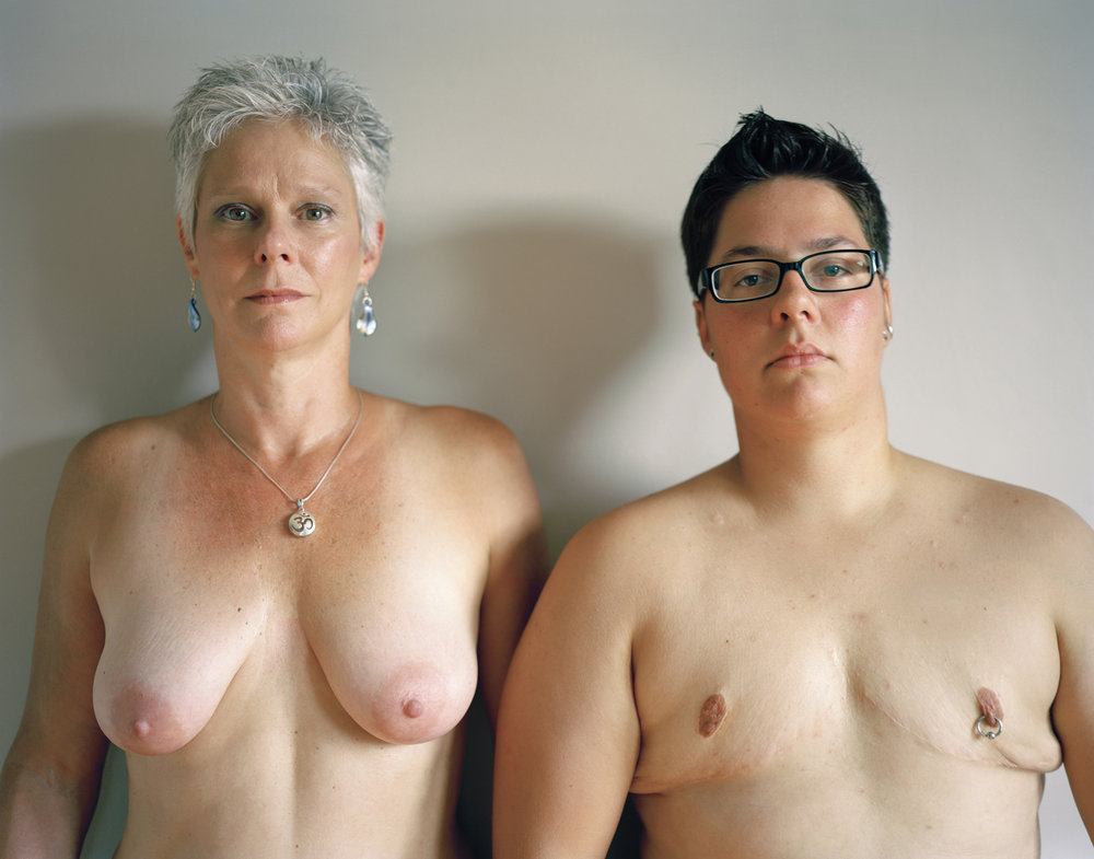 Self-portrait with mom, 2011