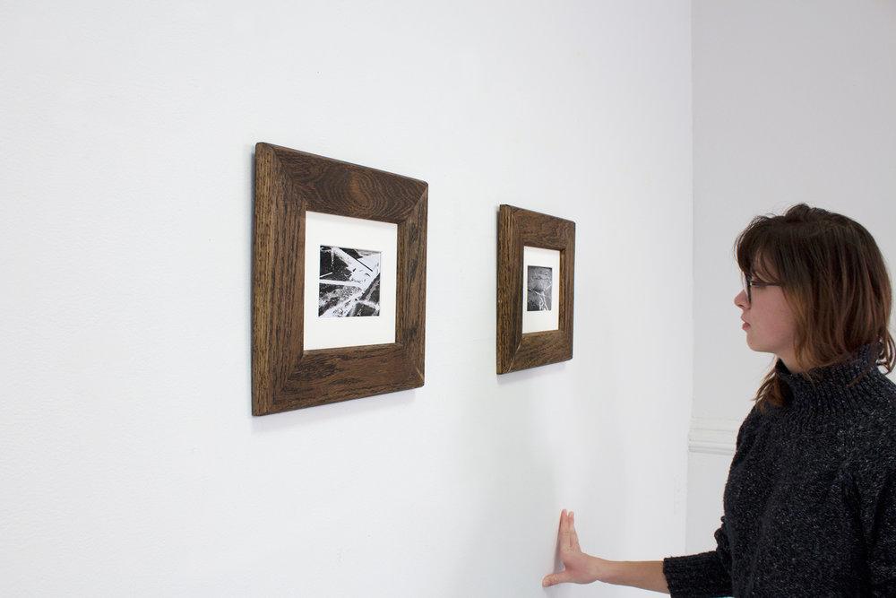 "Melissa Mourez,  Strolling Home ,35mm analogue photography, 10"" x 12"", photonegative, Matte Print, 2016."