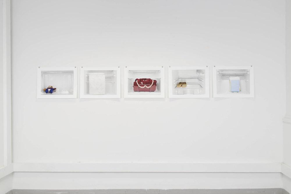 "Alexia-Leana Kokozaki,  Leftovers  (installation view), inkjet photographic prints, 17x22"", 2016"