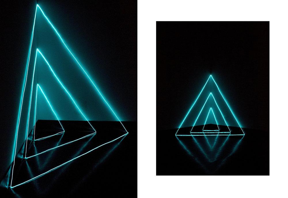 Hailey Van Doormaal,  Electroluminescent , EL wire, 3.7' x 2.7' x 3.5', 2016