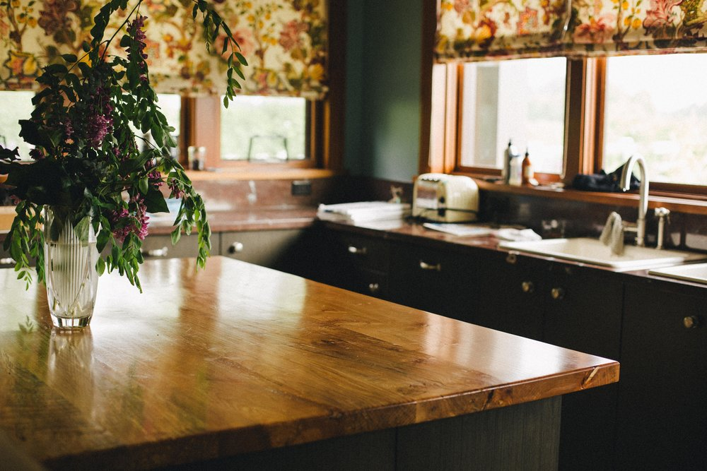 Riverbank Residence // Spalted Maple Kitchen Island