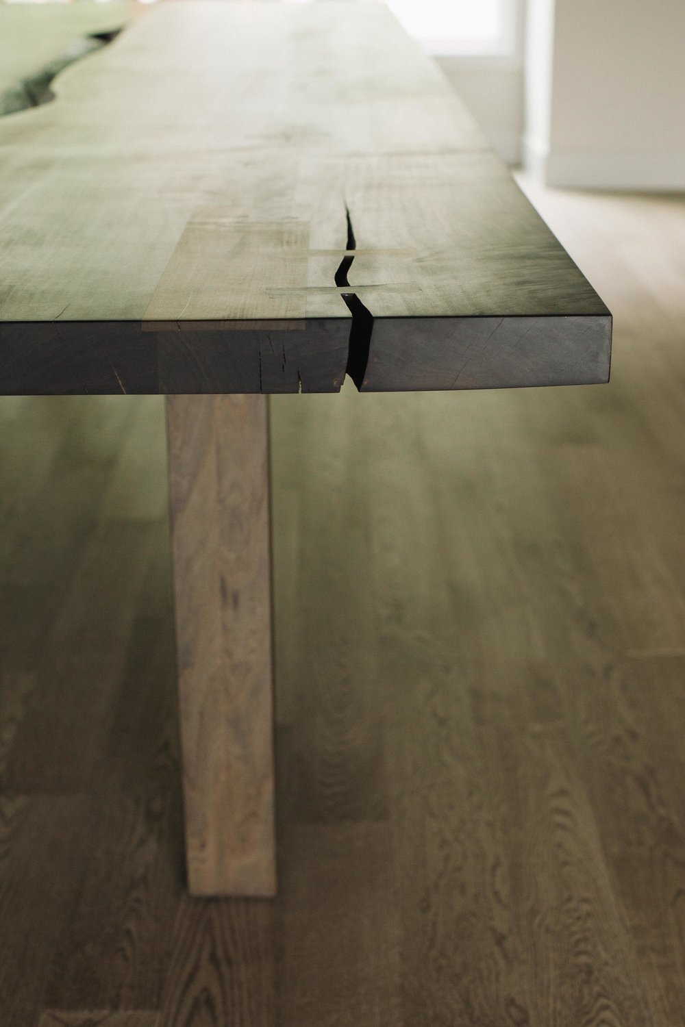 Deep Cove Residence // Oxidized Maple Dining Table