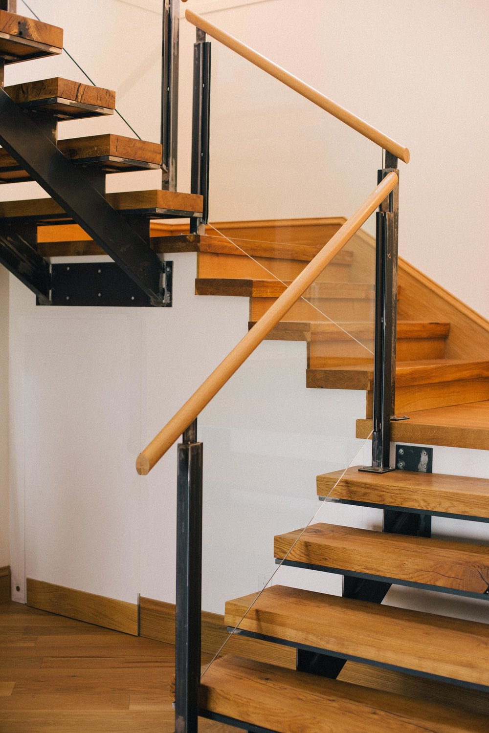 Riverbank Residence // Re-claimed Oak Stair Treads