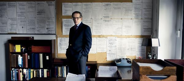 Caro in his office.