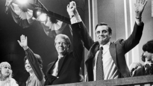 Carter and his vice president, Walter Mondale.