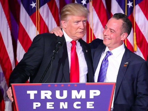Trump and former Chief of Staff, Reince Priebus, in happier times.