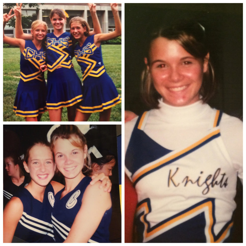 A few flashback photos to my cheer days!