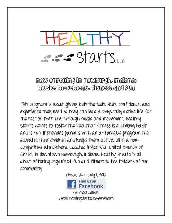 Healthy Starts, flyer 2012.png