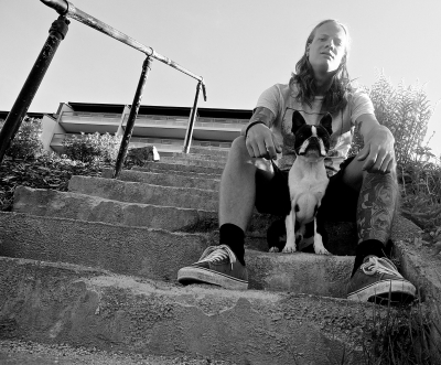 Foto: Evig Lyttar (Remi og hunden hans, Winston)