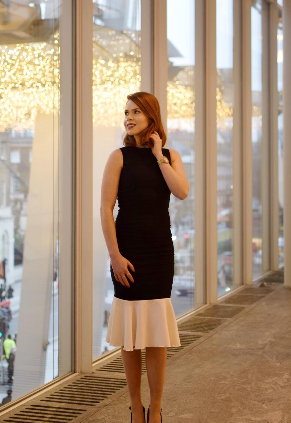 office fashion peplum dress