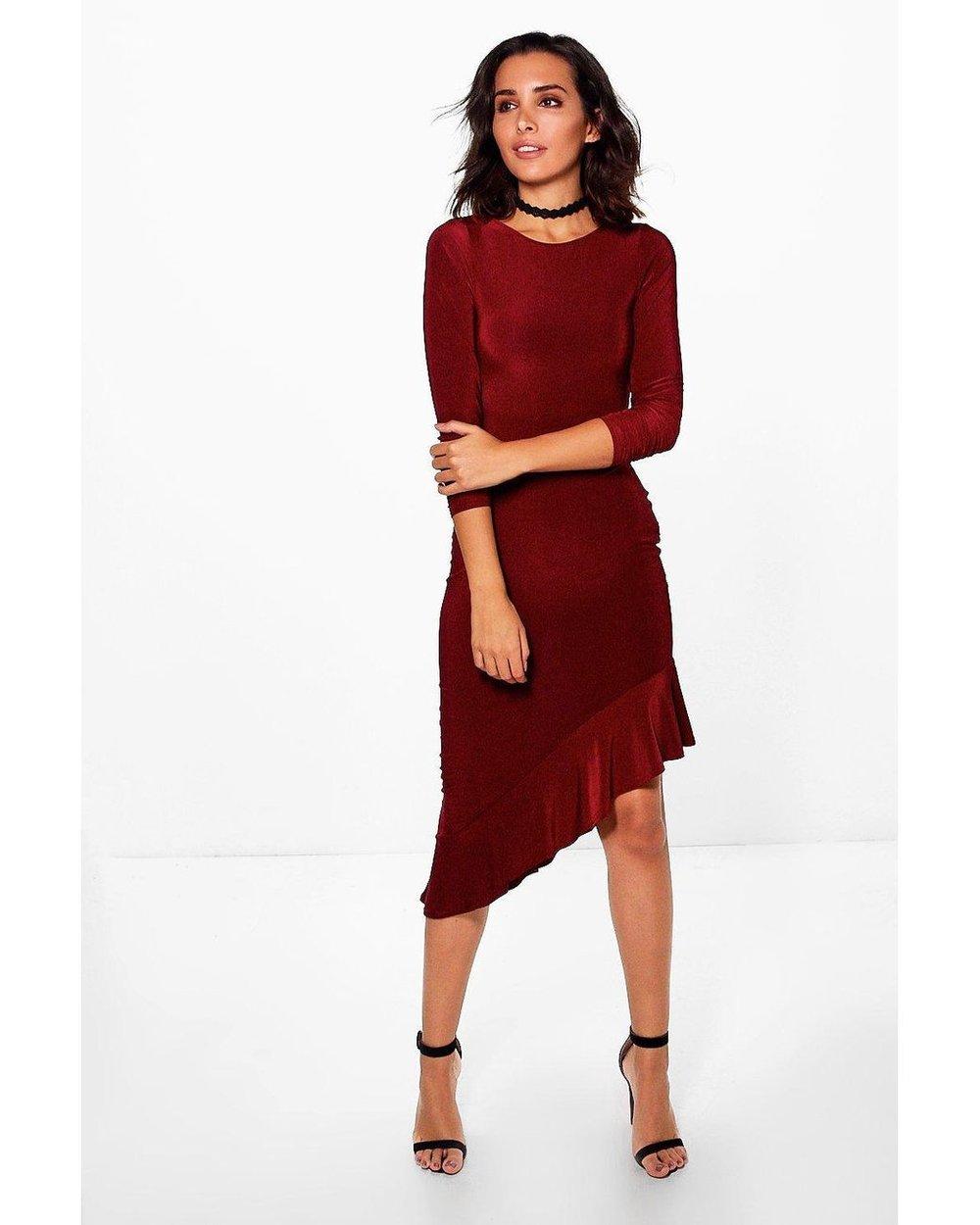 https://www.lyst.co.uk/clothing/boohoo-esme-long-sleeve-frill-asymmetric-midi-dress-berry/?reason=search-product
