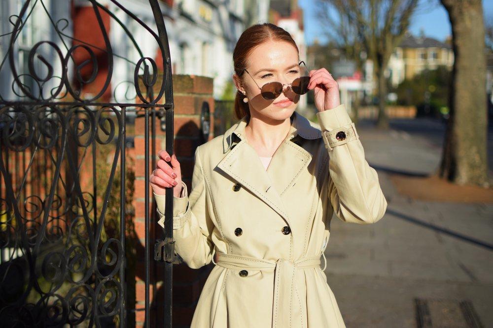 office fashion trench coat - briar prestidge