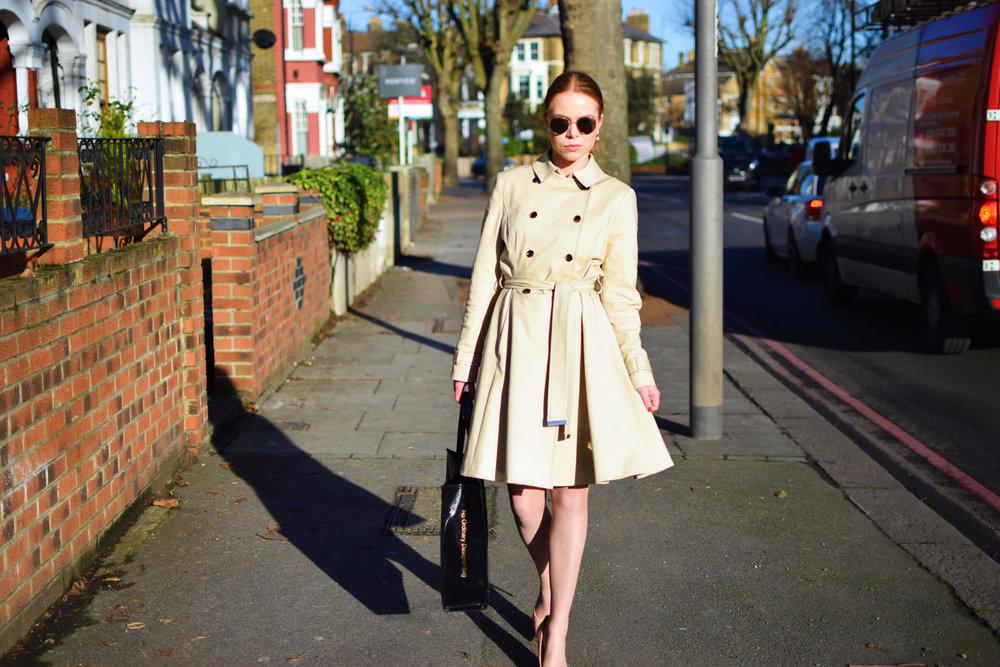 office fashion - trench coat - briar prestidge