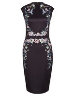 embroidered dress- office fashion - cold calling