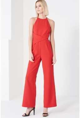 red jumpsuit - lavish Alice - office fashion