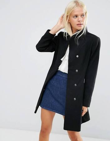 Black coat - ASOS - office fashion