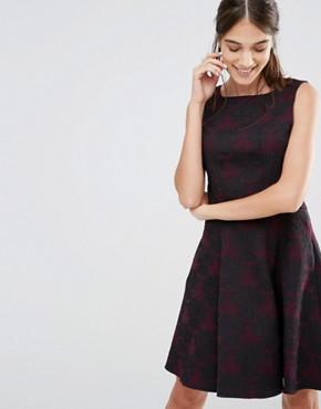 office fashion - closet- ASOS - peplum midi skater dress