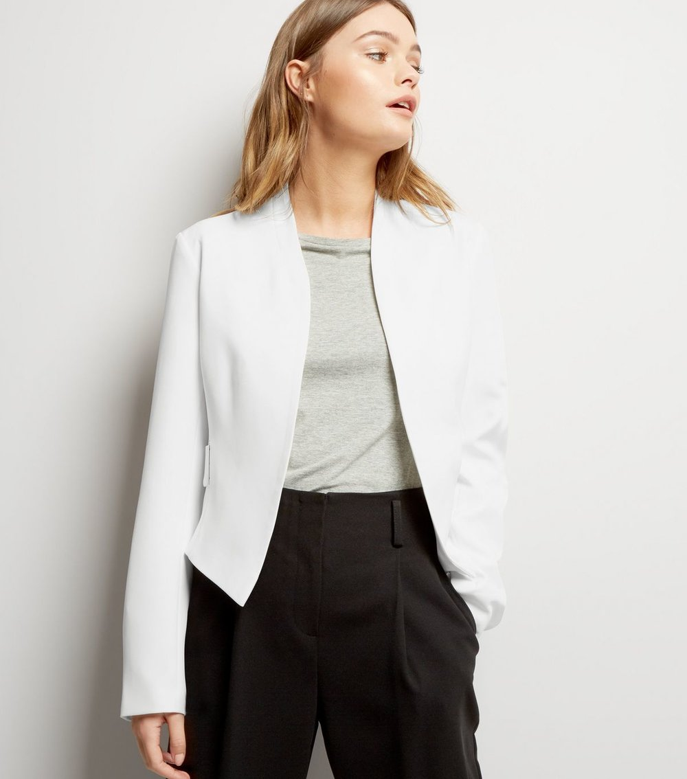 new look - cropped white blazer - office fashion - how to build rapport