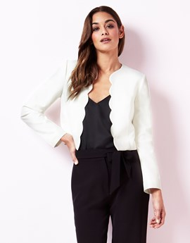 lipsy scallop edge jacket - office fashion - how to build rapport