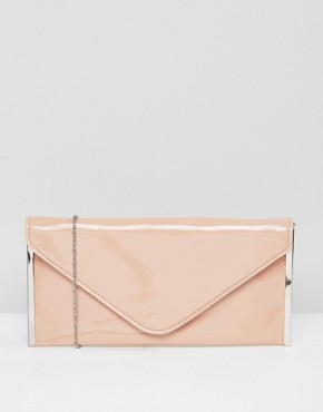 faith- nude envelope clutch