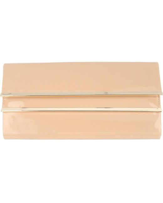 Jane Norman Nude Patent Clutch Bag