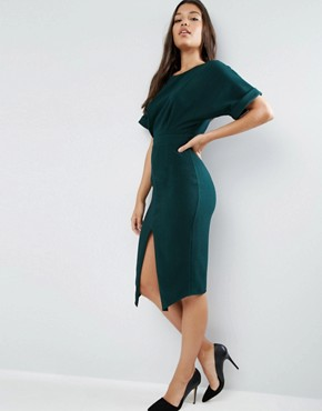 ASOS Wiggle Dress with Split Front - office fashion - deals in high heels