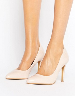Head Over Heels By Dune Alice Nude Patent Heeled Court Shoes- office fashion - deals in high heels