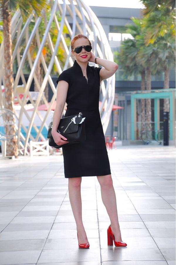 nora gardner- office power dress designer - briar prestidge - deals in high heels