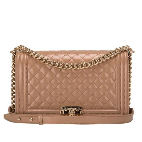 chanel medium nude boy bag - briar prestidge - deals in high heels