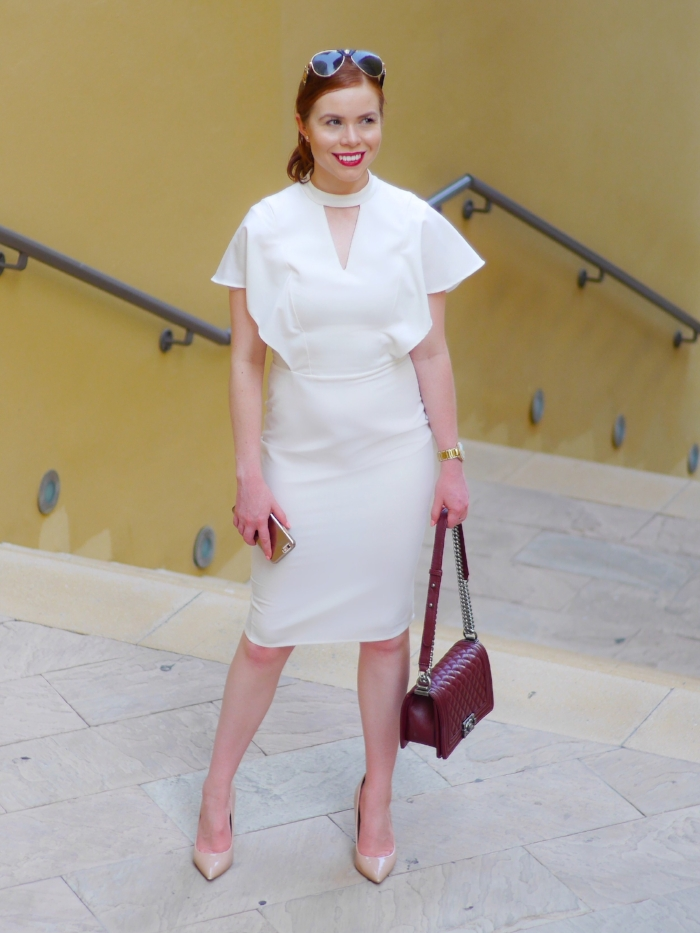 white office dress- office fashion - briar prestidge