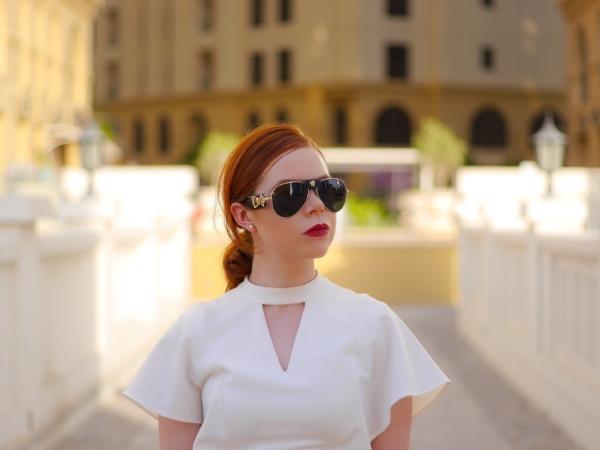 white office dress- office fashion - briar prestidg