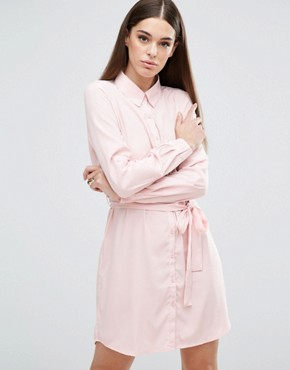 AX Paris Tie Waist Shirt Dress- asos - office fashion - briar prestidge - deals in high heels