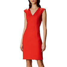 Karen Millen Textured Knit Pencil Dress- deals in high heels - office fashion and corporate lifestyle