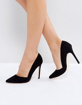 London Rebel Pointed Court Shoe- deals in  high heels