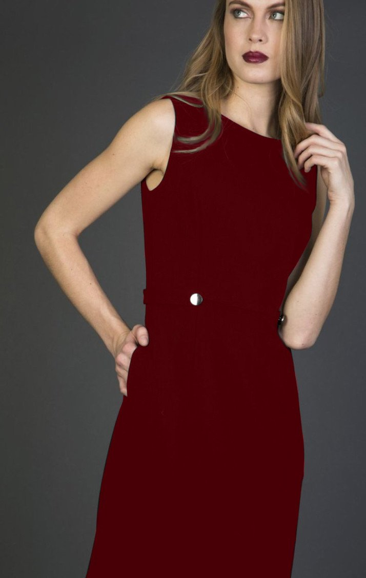 power dress - nora gardner EMILY SHEATH DRESS - MERLOT