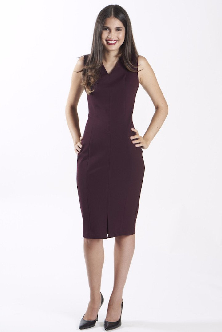 power dress for work - nora gardner -DIANA DRESS - MERLOT