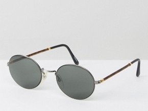 vintage glasses - Reclaimed Vintage Inspired Metal Round Sunglasses With Tort Detail