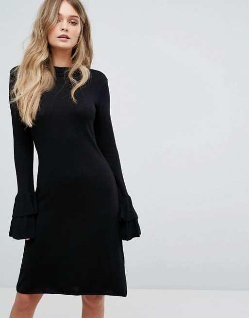 Y.A.S Knitted Dress With Ruffle Detail