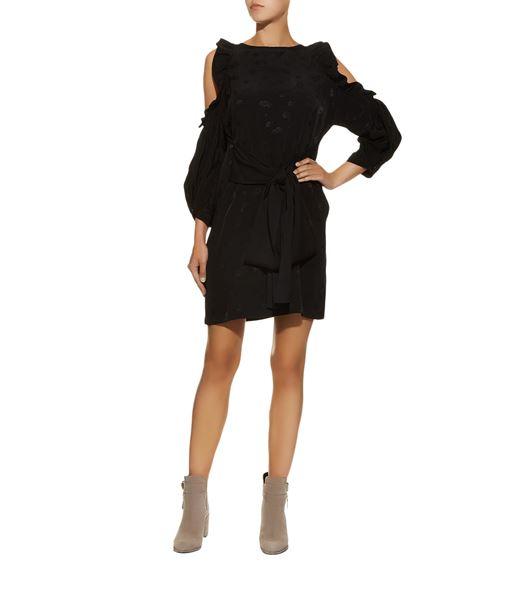 majeRuffle Cold Shoulder Dress