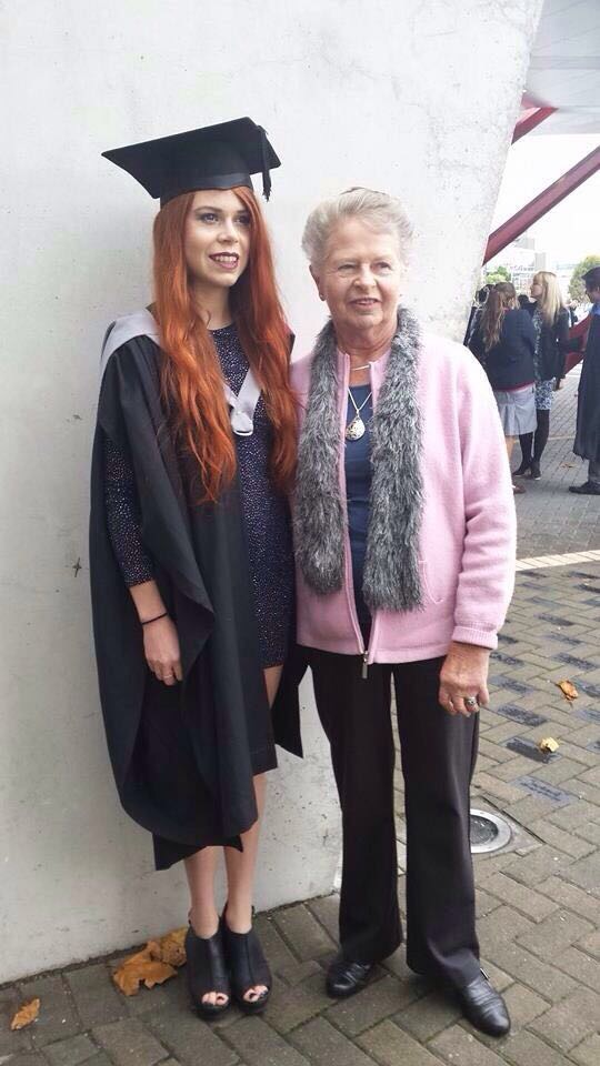 My Nana Bev and I on my Graduation, 2010